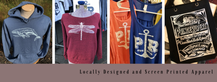Locally Designed and Screen Printed Apparel